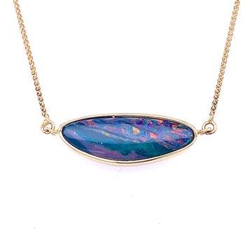 Australian Opal Doublet Neckpiece in 14ky