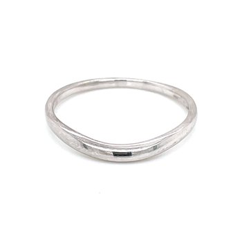Curved Tracer Wedding Band