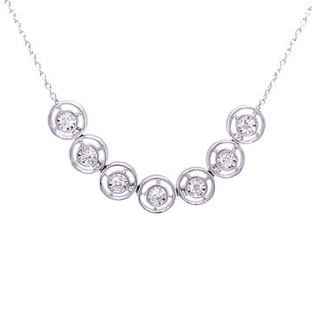 Diamond Line Necklace in 14k white gold