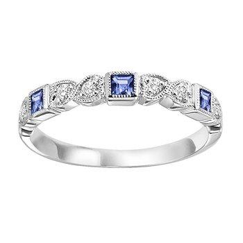 Sapphire & Diamond Stackable