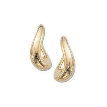 Small Twist Oval Earring 14k y