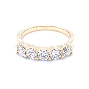 5 Stone Diamond Band-1ctw