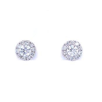1ctw Diamond Cluster Earrings