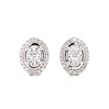 Oval Diamond Fashion stud Earrings
