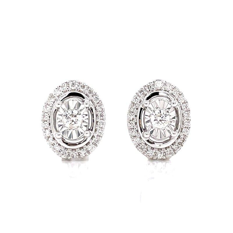 Bryan Beauties Oval Diamond Fashion stud Earrings