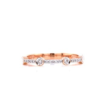 Rose Gold Diamond Stacker Band