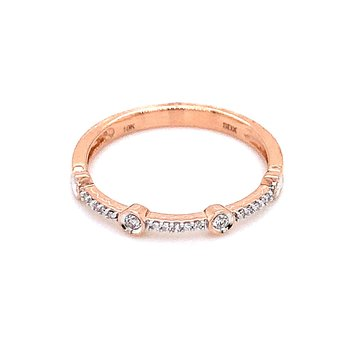 Rose Gold Diamond Stacker Band