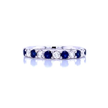 Alternating Sapphire & Diamond Band