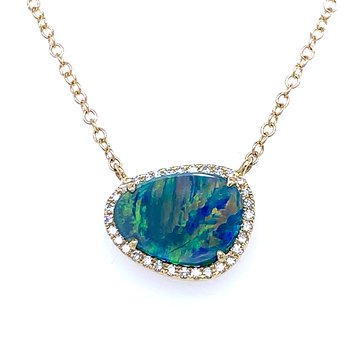 Gaze on my Beauty Opal Necklace