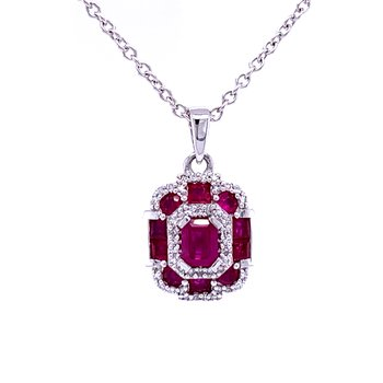 Radiance in Ruby Pendant