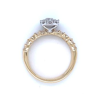 Stackable Style 1.00ctw Bridal Set Oval Style