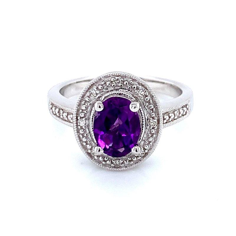 Bryan Beauties Oval Amethyst & Diamond Ring