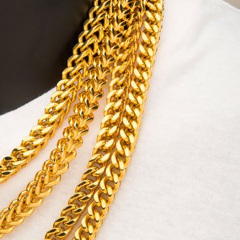 6mm 18K Gold Plated Franco Chain