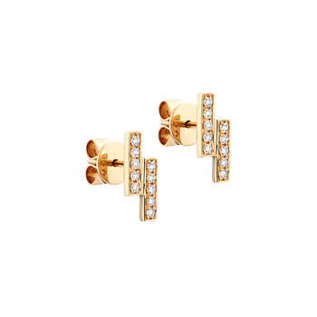 Parallel Bar Diamond Studs