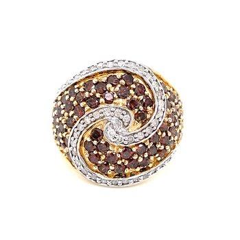 Swirled with Chocolate Diamond Ring