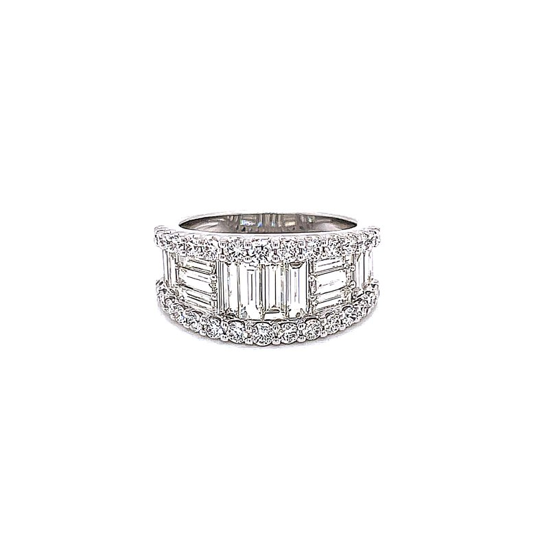 Bryan Beauties Baguette and Round 3ctw Diamond Band