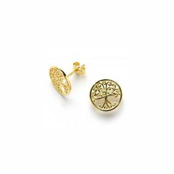 Auburn Oaks Earrings - yellow vermeil
