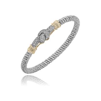 Pave' Diamond Knot Bangle