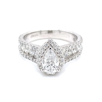1 3/4ctw PearCut Engagement Ring