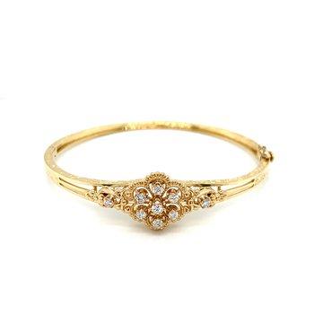 Vintage Style Diamond Bangle
