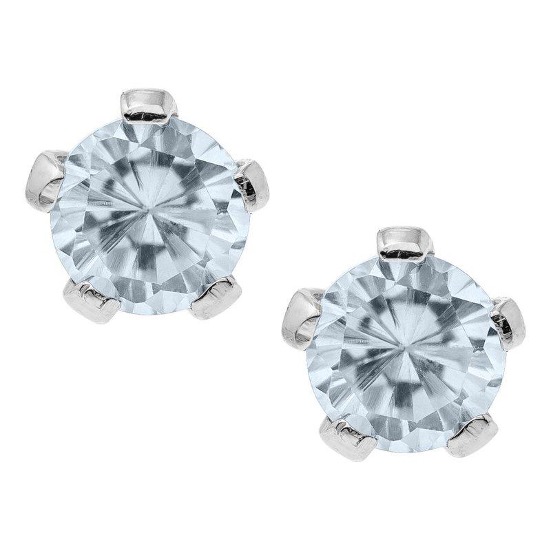 Marathon Jewelry April Birthstone Earrings- Infants