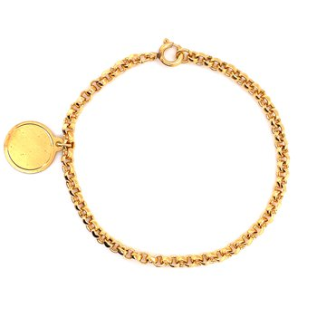 6 inch Yellow Gold Bracelet with Charm