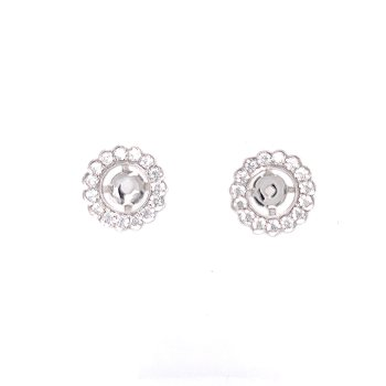 Heirloom Classic Earring Jackets-5/8ctw for 1 1/2ctw-2ctw