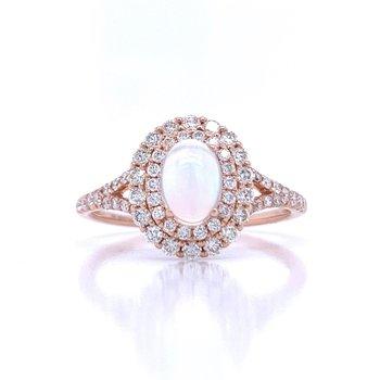 Angel's Blush Opal Ring.