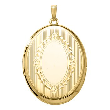Hand Engraved Oval Locket