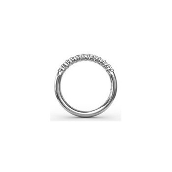 Delicate Shared Prong Anniversary Band-14kw