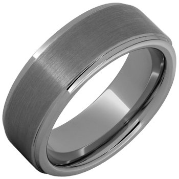 Rugged Tungsten™ Flat Grooved Edge Band with Satin Finish