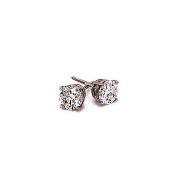1 1/4ctw Diamond Studs-14kw-Screwbacks