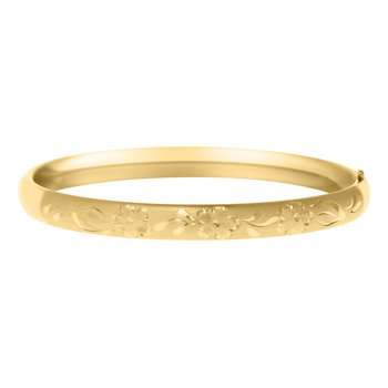 Child's Kiddie Kraft Bangle Bracelet- Gold Filled