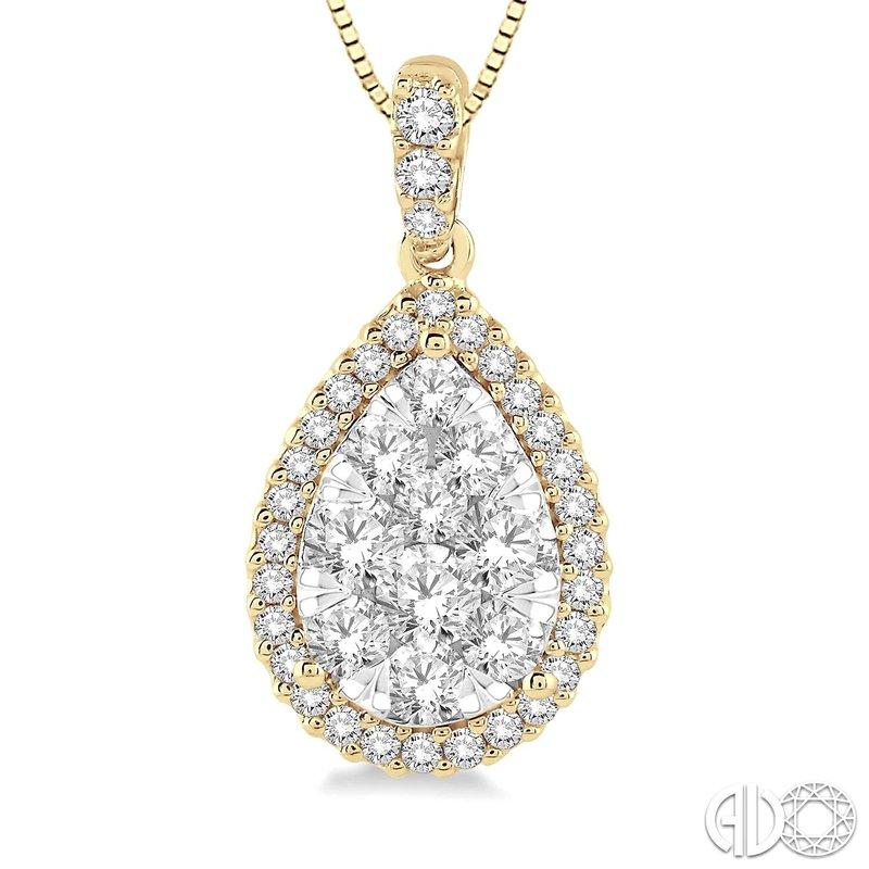 Bryan Beauties Pear Shaped Lovebright Diamond Pendant