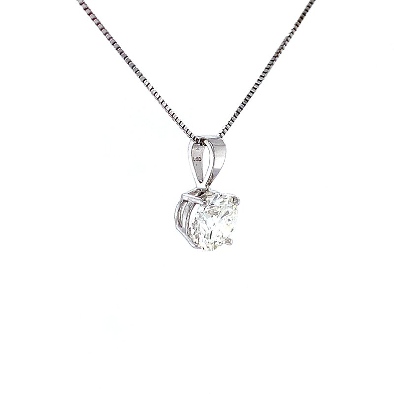 Bryan Beauties Diamond Solitaire Pendant-1ct Lab Grown