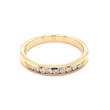 1/5ctw Channel Set Diamond Wedding Band-14ky