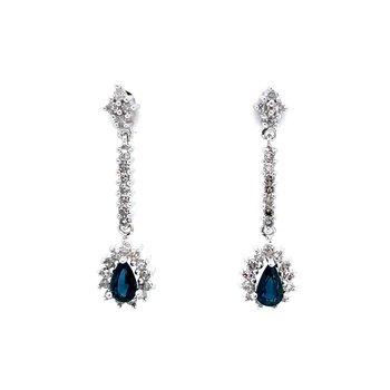 Sapphire & Diamond Dangles