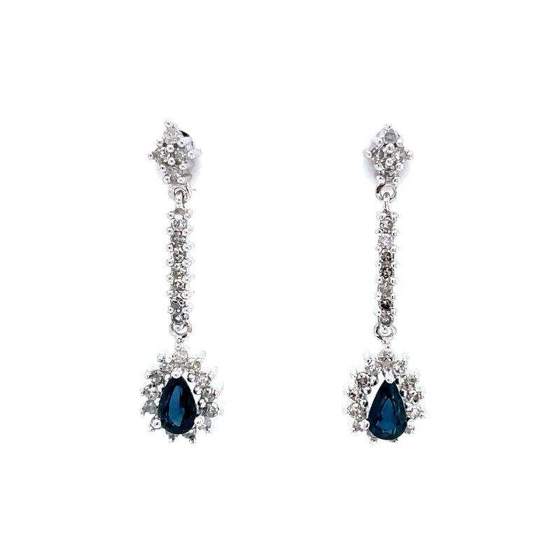 Bryan Beauties Sapphire & Diamond Dangles