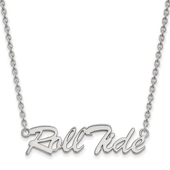 Roll Tide Necklace - Sterling Silver