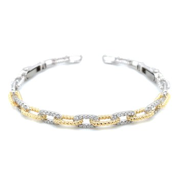18ktt Diamond Link Bangle
