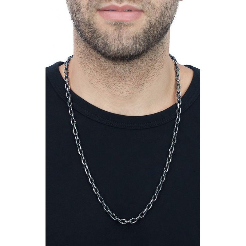 King Baby Boat Link Necklace with Hook Clasp (24 in. length)
