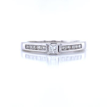 Petite Princess Cut with Channel set Band