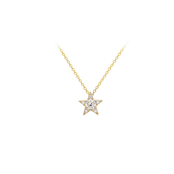 Diamond Star Pendant in 14k yellow gold