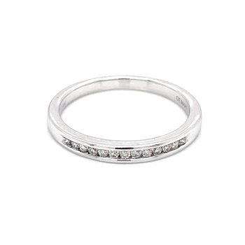 Channel set Diamond Stackable Band