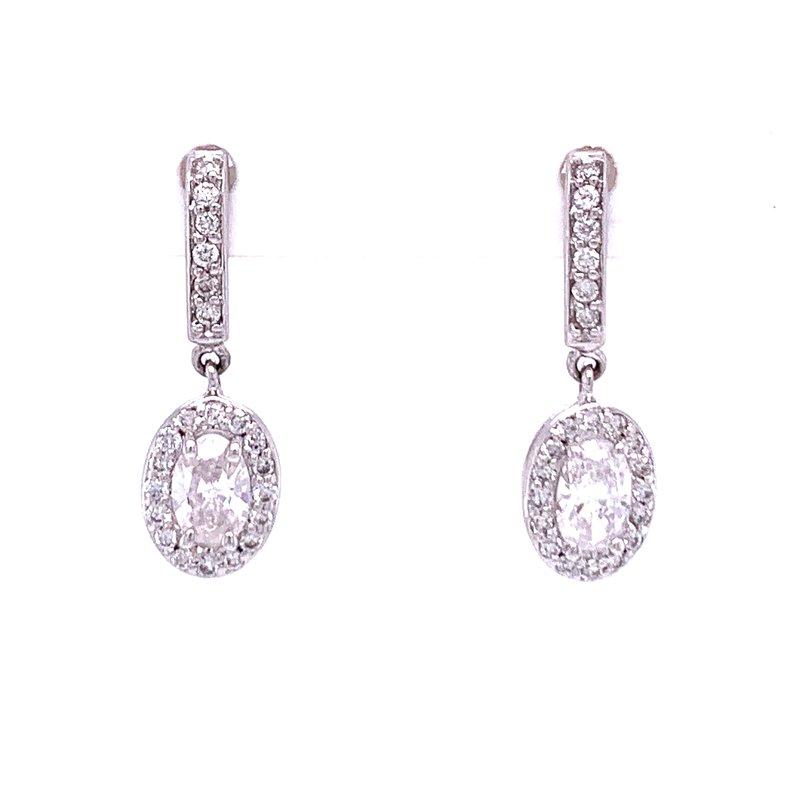 Bryan Beauties Oval Diamond Dangle Earrings