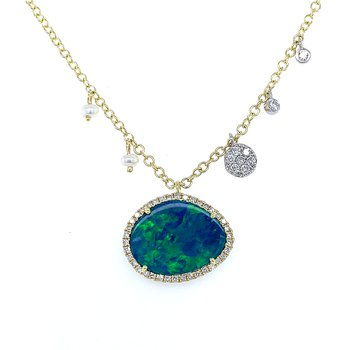 Meira T Opal with Halo Necklace