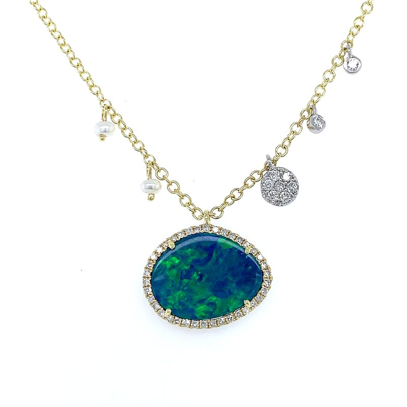 Bryan Beauties Meira T Opal with Halo Necklace