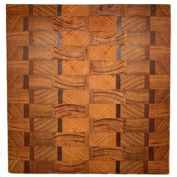 Basket Weave Wooden Serving Board