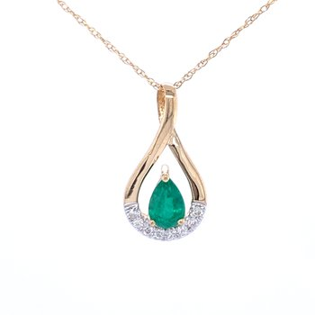 Emerald Pendant Drop