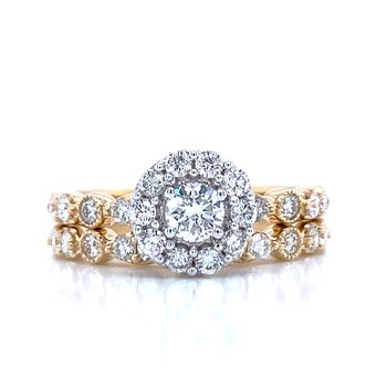 Stackable Style 1.00ctw Wedding Set